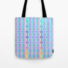 Ancient Chinese Money Stock Geo Pattern Ombre Green Blue Purple Yellow 2 Tote Bag