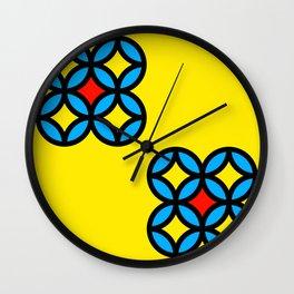 Colored Circles on Yellow Board Wall Clock