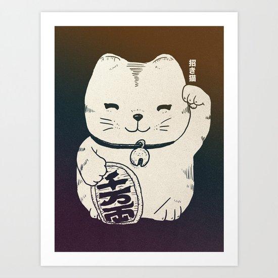 FORTUNE CAT Art Print