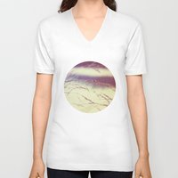 quilt V-neck T-shirts featuring summer quilt by Kelly Letky