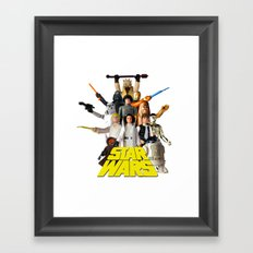 Star War Action Figures Poster - First 12 - Square Framed Art Print