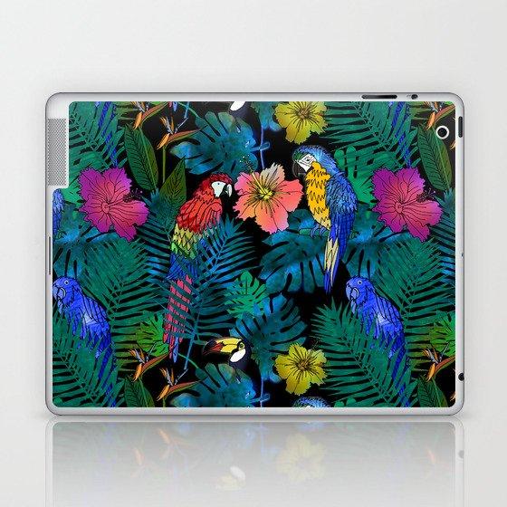 Tropical Birds and Botanicals Laptop & iPad Skin