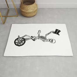 Skeleton on Unicycle Rug