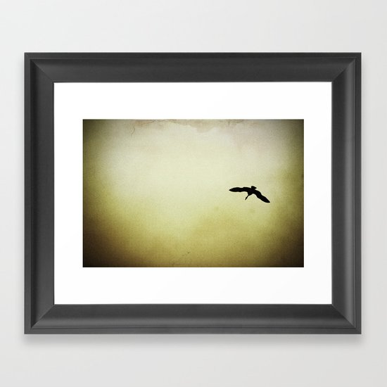 EGRET Framed Art Print