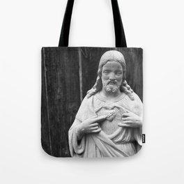 Chocolate Candy Jesus Christ Tote Bag