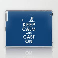 Keep Calm and Cast On Laptop & iPad Skin