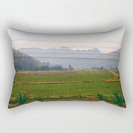 Summer Paddy Field Rectangular Pillow