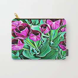 Nurturing Flowers in Pink Carry-All Pouch