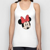 minnie mouse Tank Tops featuring So cute Minnie Mouse by Yuliya L