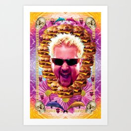 guy fieri's dank frootie glaze Art Print