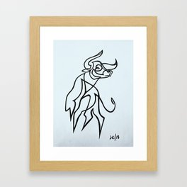 Taurus no.1 Framed Art Print