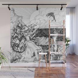 The Fish Girl Wall Mural