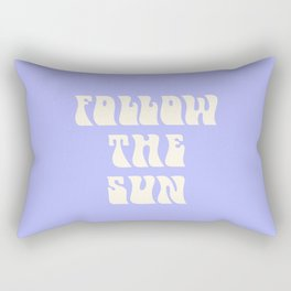 follow the sun - purple Rectangular Pillow