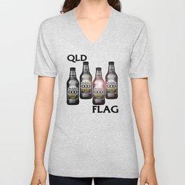 Queensland Flag xxxx Unisex V-Neck