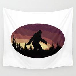 Bigfoot Sunset Wall Tapestry