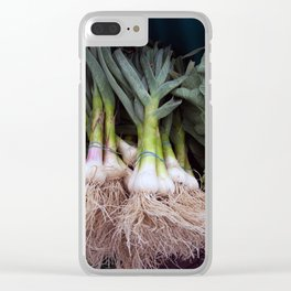 Fresh Vegetables at a Farmer's Market Clear iPhone Case