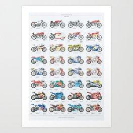 MotoGP: Premier class champions Art Print