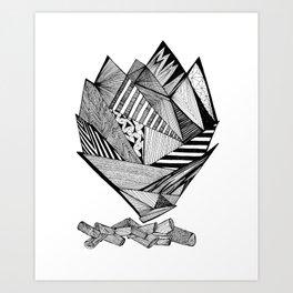 Fireplace Art Print