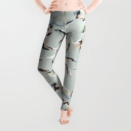 Abstract Jungle with Big Cats / Pastels and Mint Leggings