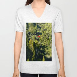 Lonely Pohutukawa Tree in Karekare Forest, New Zealand Unisex V-Neck