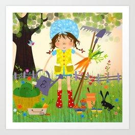 Emma is Gardening Art Print