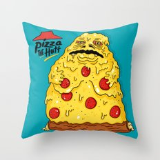Pizza The Hutt Throw Pillow