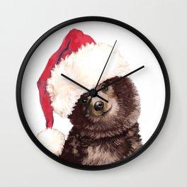 Christmas Baby Bear Wall Clock