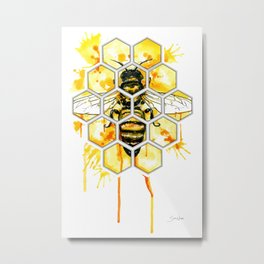 Hive Mentality Metal Print