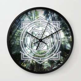 Sacred Geometry Forest Wall Clock