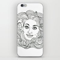 dolly parton iPhone & iPod Skins featuring Queen Dolly by Slumber Party Death Match