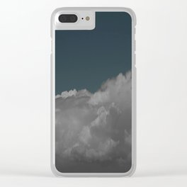 Cloudy blue Clear iPhone Case