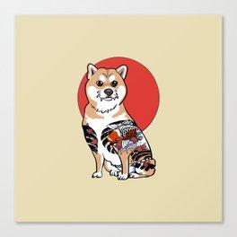 Yakuza Shiba Inu Canvas Print
