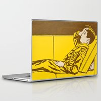 danny haas Laptop & iPad Skins featuring Danny is distressed by Troy DeRose