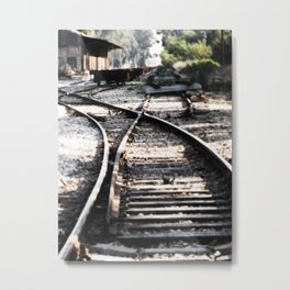 Abandoned Rail Tracks Metal Print
