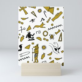 Egyptian Mini Hieroglyphics Mini Art Print