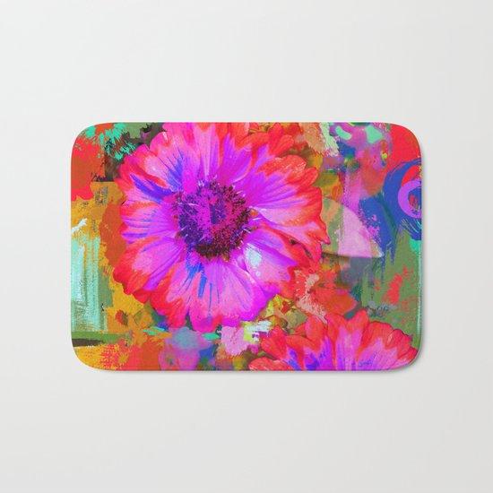 The Painter's Flowers Bath Mat