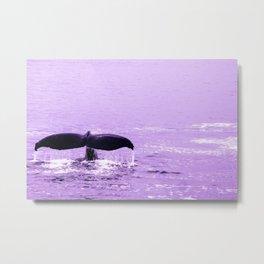 An Alaskan Whale Tail Artwork Metal Print