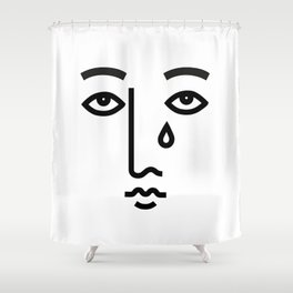 SAD FACE Shower Curtain