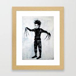 Edward Scissorhands  art by jack larson Framed Art Print