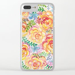 Sunshine and Roses Clear iPhone Case