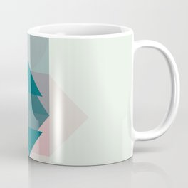 Nr. 1 Geometric Totem Pole Blush Pink and Green Coffee Mug