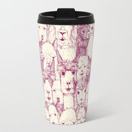 just alpacas cherry pearl Travel Mug