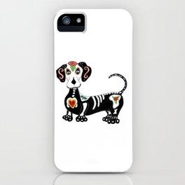 Dachshund Sugar Skull iPhone Case