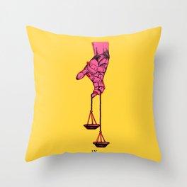 Justiva IX Throw Pillow