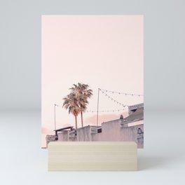 Pink Palms at Sunrise Mini Art Print