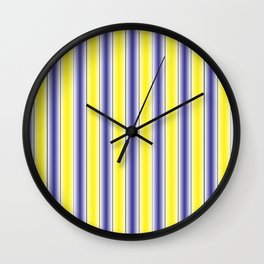 Complementary Series: 1. Purple and Yellow Gradient Wall Clock