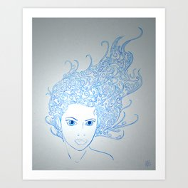 The Muses, no. 3 (Print Edition) Art Print