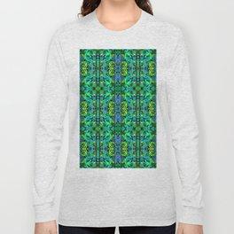 Abstract Roses 2 - Green Long Sleeve T-shirt
