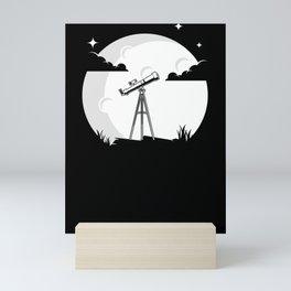 Telescope Moon Astronomy Solar System Science Mini Art Print