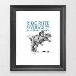 Rittesaurus Framed Art Print